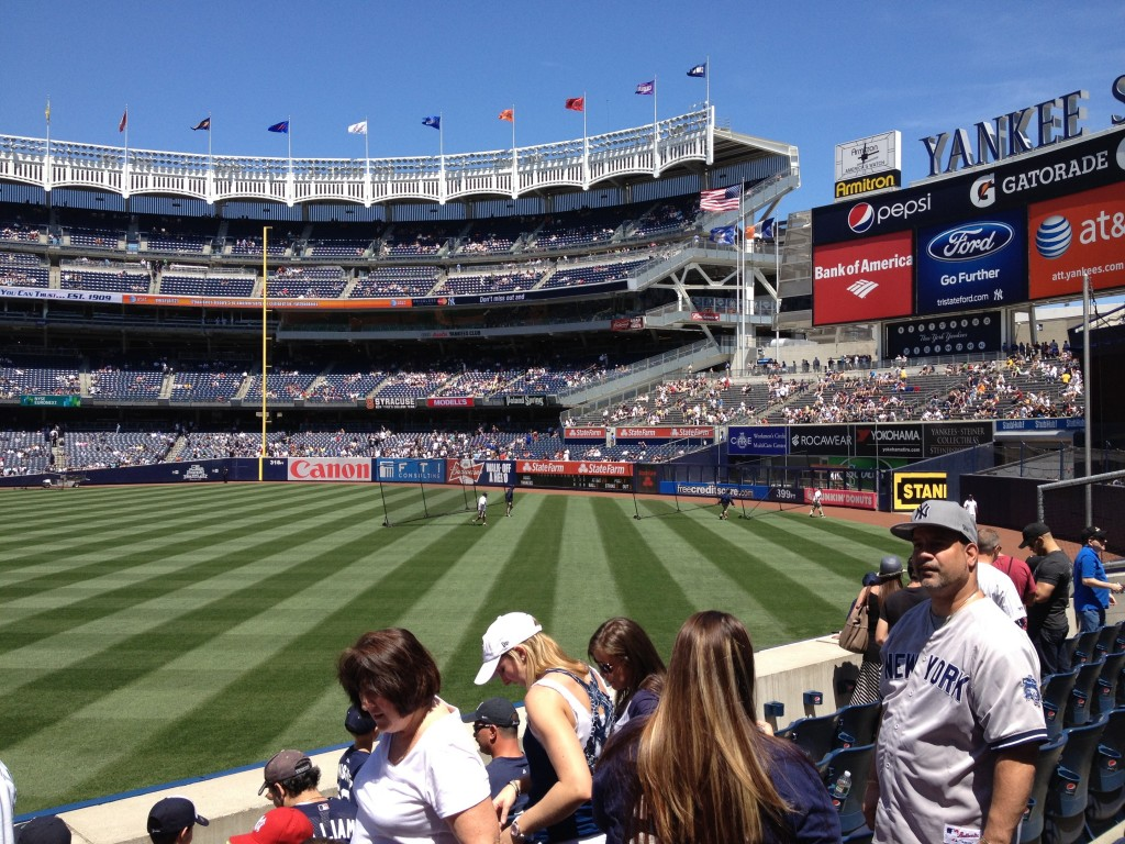Yankee Stadium, right-field porch